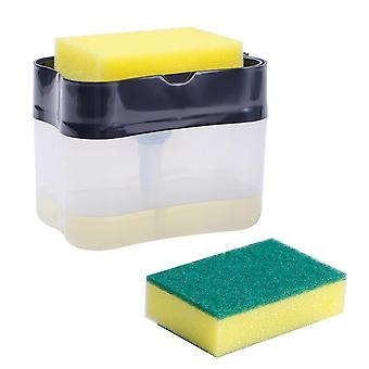 Distributeur de pompe à savon pressant, récipient avec l'outil de garnitures de nettoyage