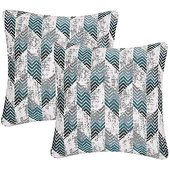 Gerui Pack of 2, Nordic Style Cozy Decorative Throw Pillow Covers for Sofa Bed Car Chair Geometric