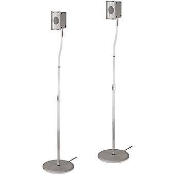 FengChun Lautsprecherständer 2er-Set, höhenverstellbar bis 123 cm, je 5 kg belastbar, versteckt