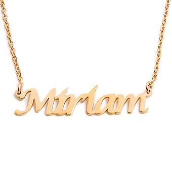 KL Kigu Miriam - Kvinders halskæde med navn, navn, moderigtige smykker, gave idé til kæreste, mor, søster
