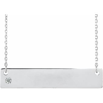 925 Sterling Silver No Customization Diamond 16 18 Inch Polished .03 Quit Diamond Family Necklace Jewely Giftsy for Wom