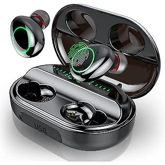 Bluetooth øretelefon, trådløse øretelefoner IP8 vanntett 3500mAh 150H headset (svart)