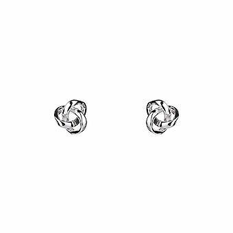 Forever - Classic Knot - Icônes Boucles d'oreilles - Argent - Bijoux Cadeaux pour femmes de Lu Bella