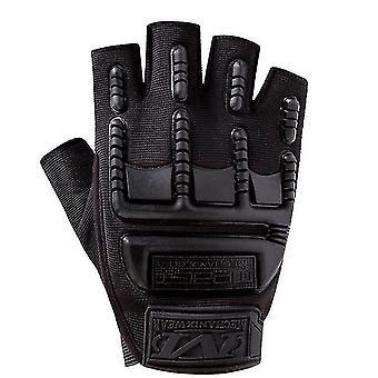 Svart menns halvfinger sykling utendørs fitness hansker x2745
