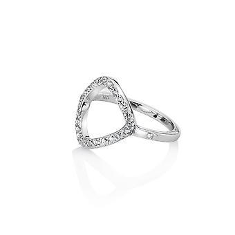 Hot Diamonds Behold White Topaz Statement Ring DR221