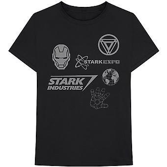 Marvel Comics - Iron Man Stark Expo Medium T-Shirt Heren - Zwart