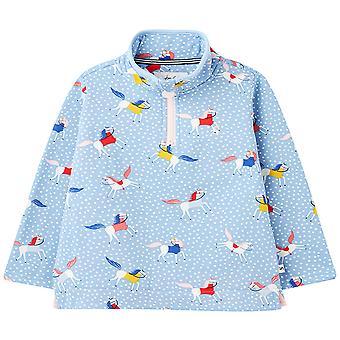 Joules Girls Fairdale Zip Neck Printed Sweatshirt