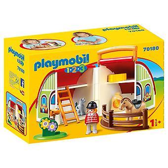 Playmobil 1.2.3 My Take Along Farm