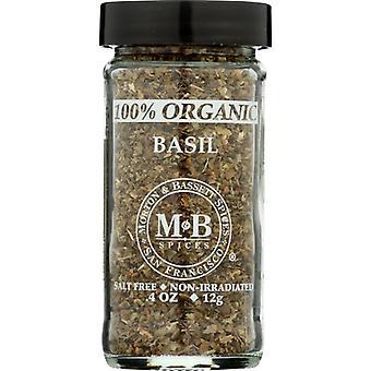 Morton & Bassett Spice Basil Org, Case of 3 X 0.8 Oz