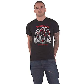 Motorhead T Shirt Ace of Spades Cowboys Band Logo new Official Mens Black