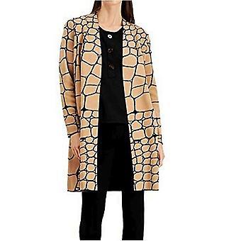 Alfani Womens Snakeskin-Print Cardigan