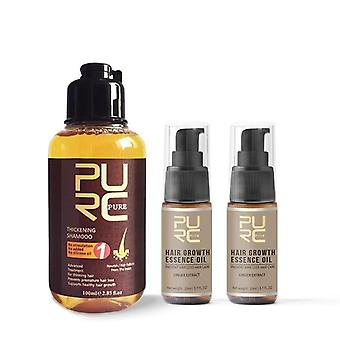 Puhdas inkivääri hiukset shampoo nopea hiusten kasvu essence öljy