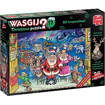 Wasgij Christmas 17 Elf Inspection! Jigsaw Puzzle (1000 Pieces)