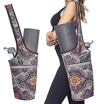 Yoga mat tas met groot formaat zak en rits zak (kleur 4)