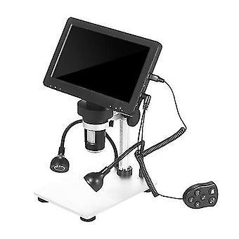 Microscopio digital LCD de 7 pulgadas 1200X De aumento microscopio recargable portátil