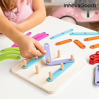 Wooden Set for Making Letters and Numbers Koogame InnovaGoods 27 Pieces