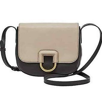 Fossil Stella Crossbody Black/Taupe Leather Bag