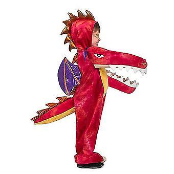 Δεινόσαυρος ζώο κινούμενα σχέδια ένα κομμάτι Πιτζάμες Σκηνή Απόδοση Κοστούμι (Style2)