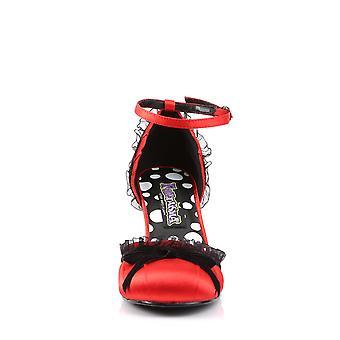 Funtasma Ropa y Accesorios > Disfraces y Accesorios > Zapatos de Vestuario > Satén Rojo Femenino RETRO-03