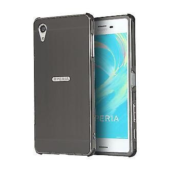 Caja de aleación a prueba de golpes + fibra de carbono para Sony Xperia Z5 - Negro