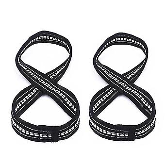 Figure 8 weight lifting straps deadlift wrist strap for pull-ups horizontal bar powerlifting gym fitness bodybuilding equipment