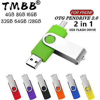 Usb 2.0 Smart Phone Pen Drive 4g 8g 16g 32g 128g Micro Usb Memory Storage