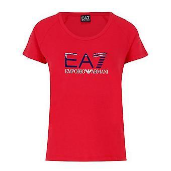 Men's Short Sleeve T-Shirt Armani Jeans 6ZTT82 TJ12Z Red