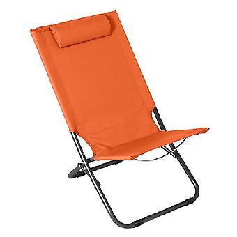כתום פלדה כיסא החוף (62 x 48,5 x 28/72)