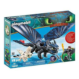 Playset Dragons Hiccup et Toothless Playmobil 70037 (19 pcs)