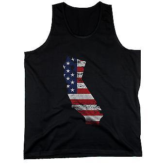 CA statligt USA flagga mäns linne California amerikanska flaggan tankar