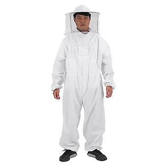 One-piece Suit White Beekeeping Protective Clothing Dome Cotton Thickened 180-190cm