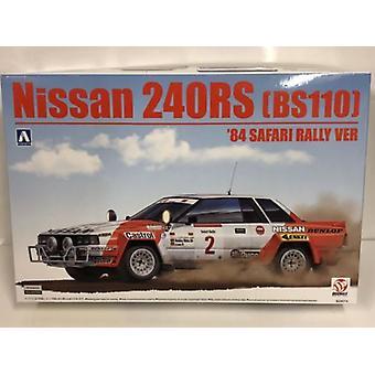 1984 Nissan 240RS BS110 Safari Wersja rajdowa 1:24 Model Kit Beemax 24014
