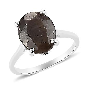 TJC Silber Saphir Verlobung Solitär Ring für Damen Sterling Silber 1.05ct(M)