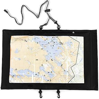 Mimigo Map Case, Waterproof Military Hiking Map Pouch Holder With Clear Window & Lanyard