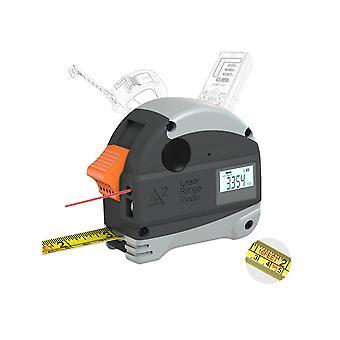 40m laser afstandsmåler + 5m anti-fall stålbånd metrisk og tomme målebåndsmåler høj præcision afstand meter