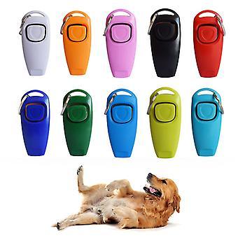 2 In 1 lemmikki clicker koira koulutus whistle vastaus kortti lemmikki koiran kouluttaja avustava opas avain rengas koira lemmikki tarvikkeet