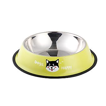 קערות כלב נירוסטה חתול קערה מים ומזון עם בסיס גומי
