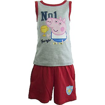 Γιώργος Πέππα Χοιρινά αγόρια ρούχα σετ αμάνικο T-shirt και σορτς