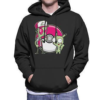 PoGIRmon Invader Zim Pokemon Men's Hooded Sweatshirt