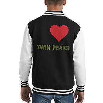 I Love Twin Peaks Kid's Varsity Jacket
