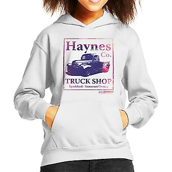 Haynes Brand Truck Shop Sparkford Pickup Kid's Hooded Sweatshirt
