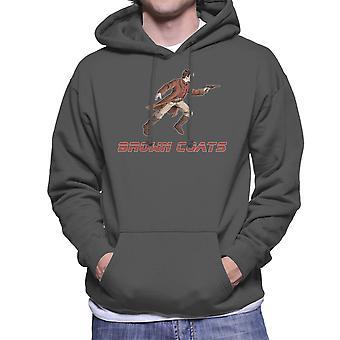 ホタル セレニティ ブラウン コート メンズ フード付きスウェット シャツ