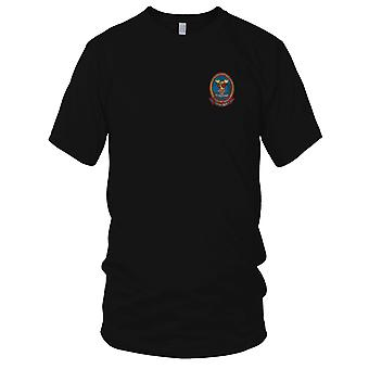 USMC Marines Air Support HMM-365 The Fying Clowns - Military Vietnam War Embroidered Patch - Mens T Shirt