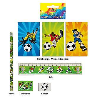 Fotboll 5-delars brevpapper Set
