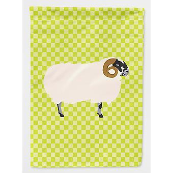 キャロラインズ宝物 BB7799GF スコットランド ブラック フェース羊グリーン フラグ ガーデン サイズ