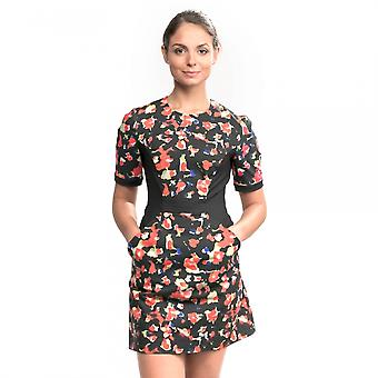 French Connection Bella Ottoman Short Sleeve Crew Neck Womens Dress