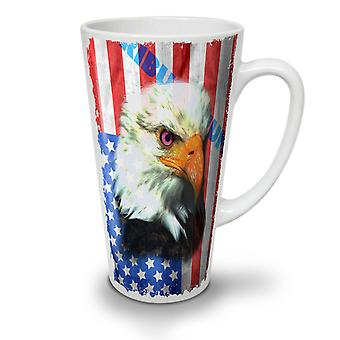 Eagle Of Freedom Flag USA NEW White Tea Coffee Ceramic Latte Mug 12 oz | Wellcoda