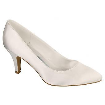 Anne Michelle Womens/Ladies Bridal Wedding Slip On Shoes