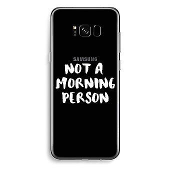 Samsung Galaxy S8 Plus transparentes Gehäuse (Soft) - Frühaufsteher