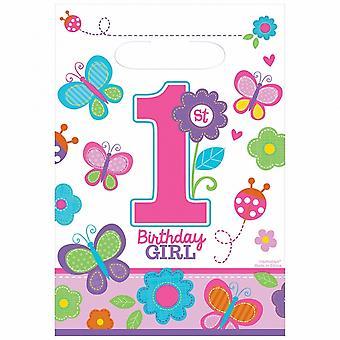 Amscan Sweet 1. oslava narozenin Loot tašky (balíček 8)